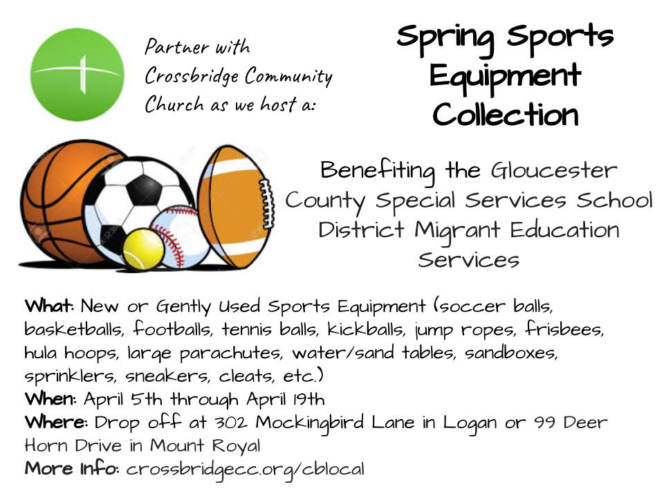 Copy of CBLocal Sports Equipment Collection--April, 2021